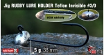 Jig Teflon RUGBY - Lure holder #3/0, 5 g, 5 pcs