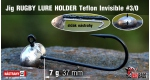 Jig Teflon RUGBY - Lure holder #3/0, 7 g, 5 pcs