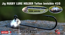 Jig Teflon Invisible RUGBY - Lure holder # 2/0, 5 pcs