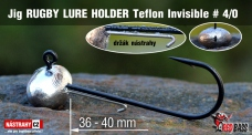 Jig Teflon Invisible RUGBY - Lure holder # 4/0, 5 pcs