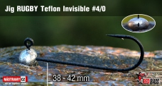 Jig Teflon Invisible RUGBY # 4/0, 5 pcs