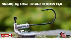 Stand Up Jig Teflon Invisible REDBASS # 1/0, 5 pcs