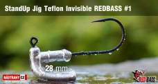 Stand Up Jig Teflon Invisible StandUp REDBASS # 1, 5 pcs