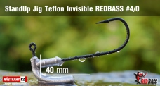 Stand Up Jig Teflon Invisible StandUp REDBASS # 4/0, 5 pcs