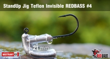 Stand Up Jig Teflon Invisible StandUp REDBASS # 4, 5 pcs