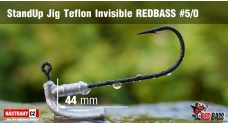 Stand Up Jig Teflon Invisible REDBASS # 5/0, 5 pcs