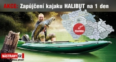 Inflatable fishing kayak HALIBUT rent 1 day