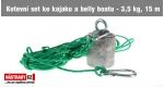 Anchor set for kayak and belly boat - 3,5 kg and 15 m line