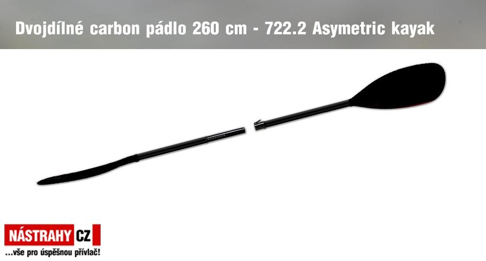 Two-piece carbon Paddle 722.2 Asymetric 260 cm