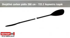 Two-piece carbon Paddle 722.2 Asymetric 260 cm