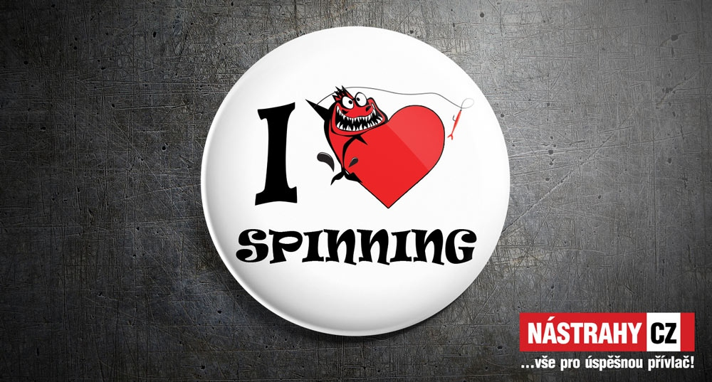 Badge: I love spinning