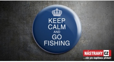Badge: Keep Calm and Go Fishing