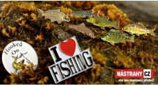 Metal enamel fishing badges