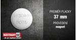 průměr 37 mm - magnet +0.40 €