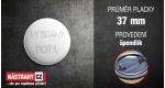 průměr 37 mm - placka se špendlíkem +0.20 €