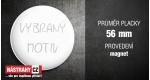 průměr 56 mm - magnet +0.60 €