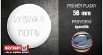 průměr 56 mm - placka se špendlíkem +0.40 €
