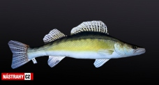 Fish pillow ZANDER - lenght 76 cm