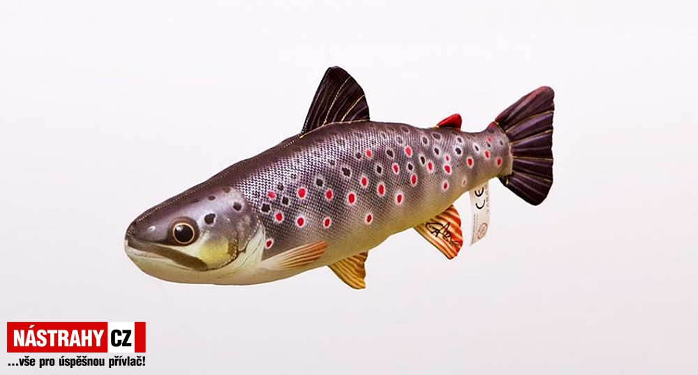 Fish pillow THE BROWN TROUT - lenght 40 cm