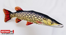 Fish pillow PIKE GIGANT - lenght 110 cm