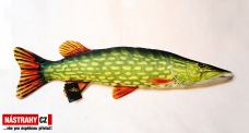 Fish pillow PIKE SMALL - lenght 44 cm